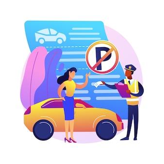 Geen parkeerzone illustratie