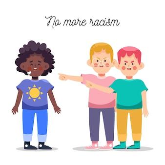 Geen racisme-concept meer geïllustreerd