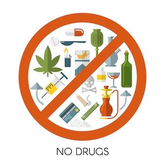 Geen samenstelling van drugs