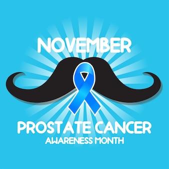 Geen scheervoorlichtingsmaand voor banner van prostaatkanker.