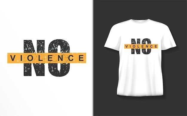 Geen t-shirt van de geweldtypografie