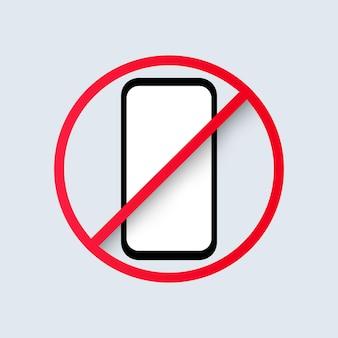 Geen telefoonpictogram. verboden om smartphoneteken te gebruiken. vectoreps 10. geïsoleerd op achtergrond.