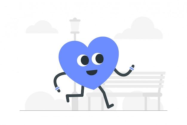 Geestelijke gezondheid concept illustratie.