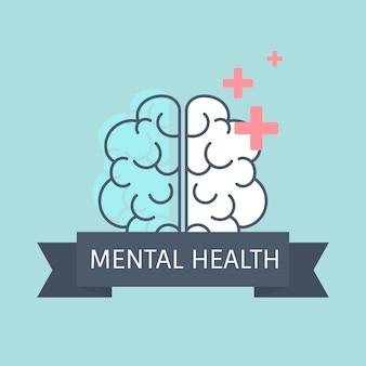 Geestelijke gezondheid die de hersenvector begrijpt