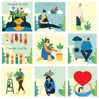 Geestelijke gezondheid illustratie concept.