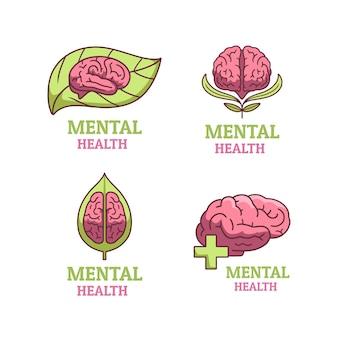 Geestelijke gezondheid logo's set
