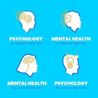Geestelijke gezondheid logo sjablonen set