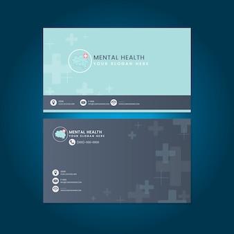 Geestelijke gezondheid psychiater naam kaart mockup vector