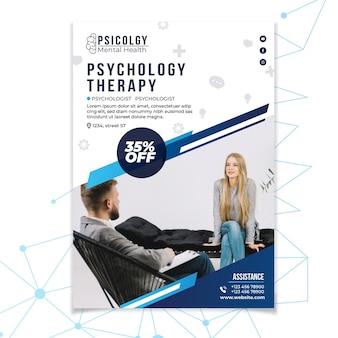 Geestelijke gezondheidspsychologie raadplegen poster sjabloon