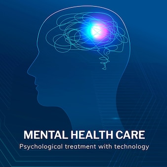 Geestelijke gezondheidszorg sjabloon medische technologie