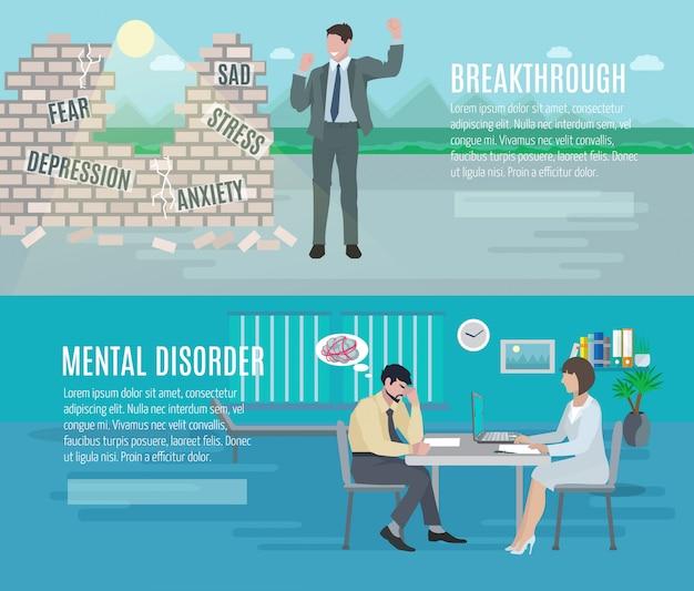Geestesgezondheidsangststoornis doorbraak met psychiatrische counseling