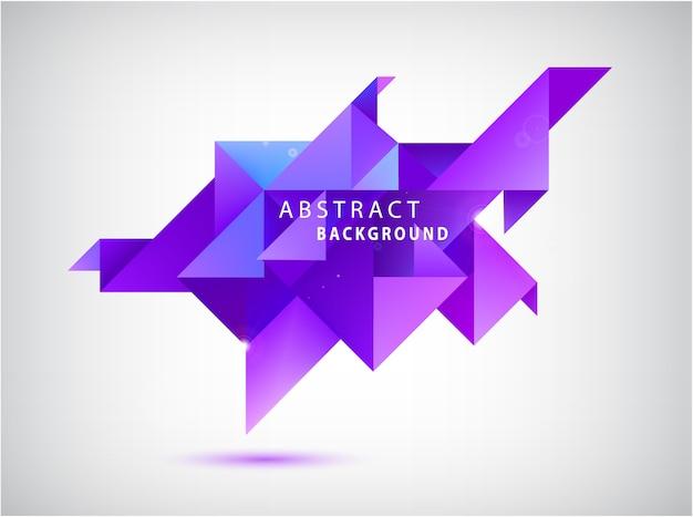 Gefacetteerde kristal kleurrijke vorm, banner. driehoek abstracte achtergrond
