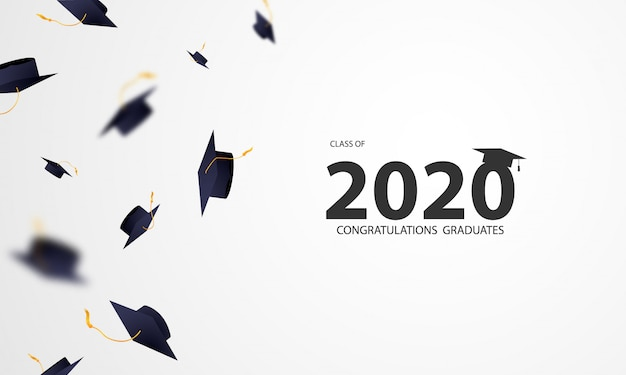 Gefeliciteerd afgestudeerden klas van 2020 met vliegende mortarboard