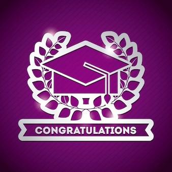 Gefeliciteerd grad viering kaart