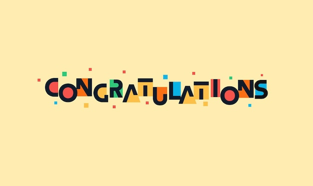 Gefeliciteerd grappige belettering futuristische ruimte kleurrijke begroetingsbrieven voor kinderverjaardag