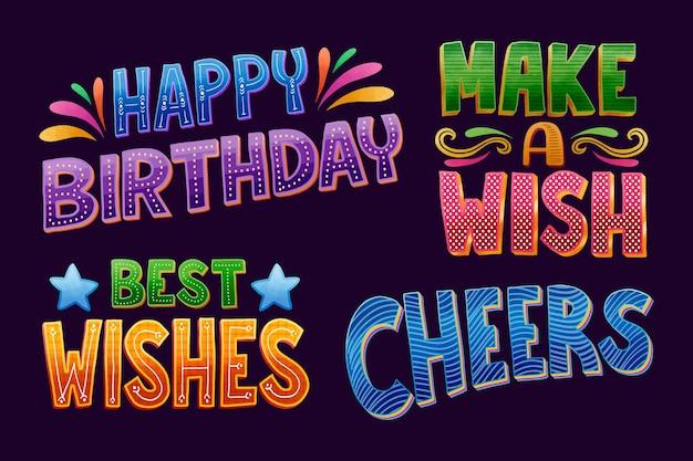 Gefeliciteerd kleurrijke letters