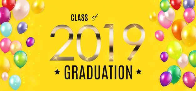 Gefeliciteerd met de graduation 2019 class background