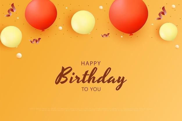 Gefeliciteerd met je verjaardag met wat ballonnen erop