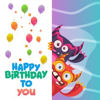 Gefeliciteerd met je verjaardag wenskaart ontwerp