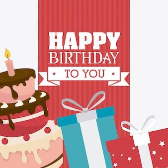 Gefeliciteerd met je verjaardagskaart.