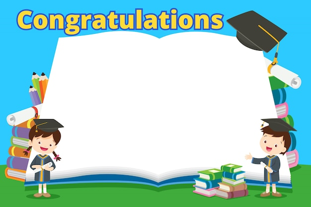 Gefeliciteerd studenten en grote boeken