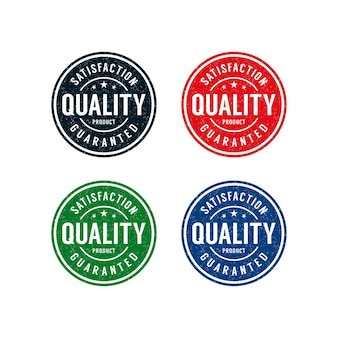 Gegarandeerd kwaliteitsproduct stempellogo-ontwerp