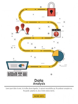 Gegevens analyse infographic concept