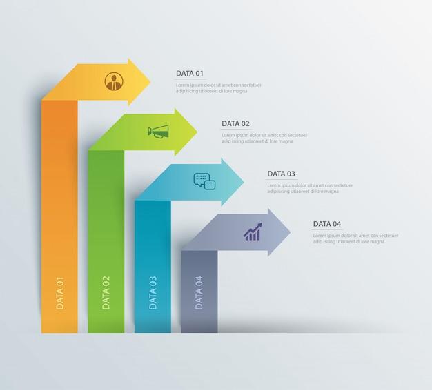 Gegevens infographics tabblad papieren indexsjabloon.