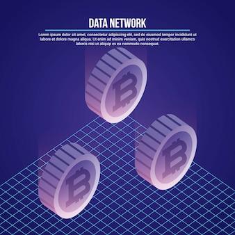 Gegevens netwerk illustratie