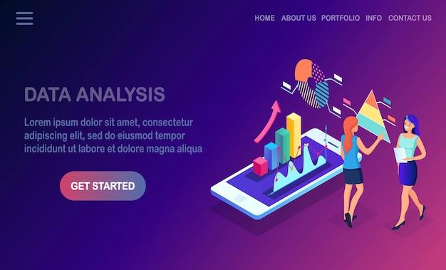 Gegevensanalyse. digitale financiële rapportage, seo, marketing. bedrijfsbeheer, ontwikkeling