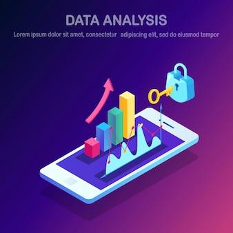 Gegevensanalyse. digitale financiële rapportage, seo, marketing.
