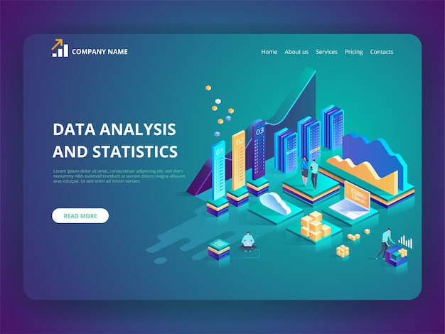 Gegevensanalyse en statistieken concept illustratie bedrijfsanalyses