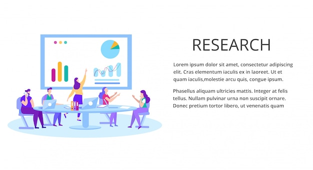 Gegevensanalyse financial research landing page template