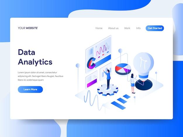 Gegevensanalyse isometrisch voor webpagina
