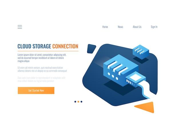 Gegevensback-up, cloudopslag van kloongegevenssysteem, bestandsmagazijnservice, plug-in op netwerk