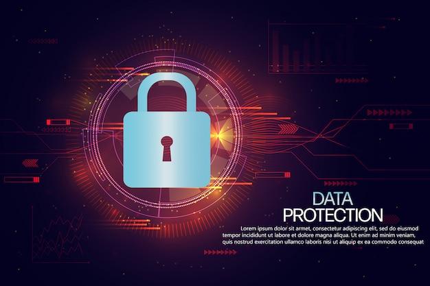 Gegevensbescherming en verzekering achtergrondsjabloon