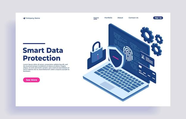 Gegevensbescherming netwerk gegevensbeveiliging veiligheidsconcept vertrouwelijke gegevensbescherming