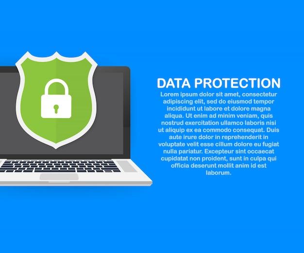 Gegevensbescherming, privacy en internetbeveiligingssjabloon