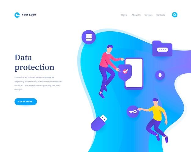 Gegevensbescherming websjabloon