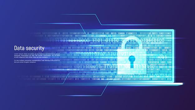 Gegevensbeveiliging, informatiebescherming, toegangscontrole concept.