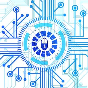 Gegevensbeveiligingsconcept gesloten toegangscontrolesysteem concept moderne beveiligingstechnologie