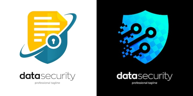 Gegevensbeveiligingslogo met twee verschillende variaties