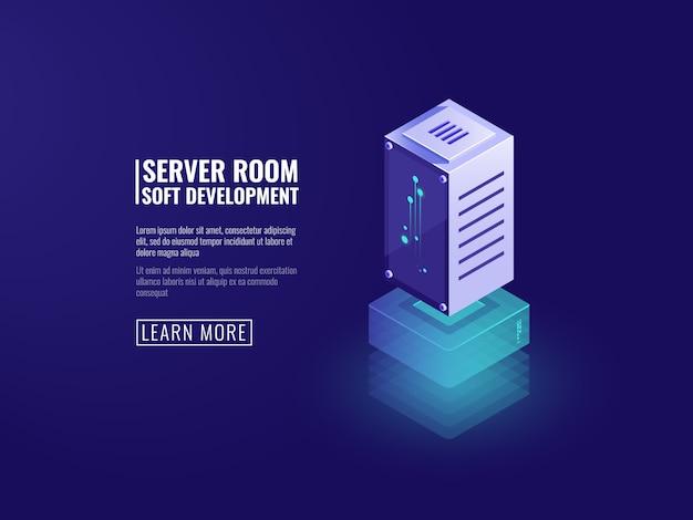 Gegevensserver, informatieverwerking, digitale computertechnologieën, opslag van cloudgegevens