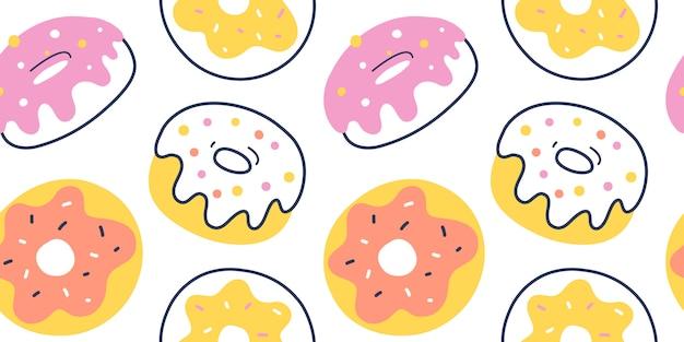 Geglazuurd donutpatroon, naadloos