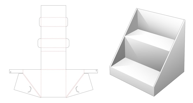 Gegolfd product display plank gestanst sjabloon