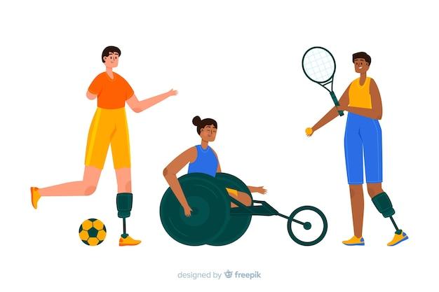 Gehandicapte atleet