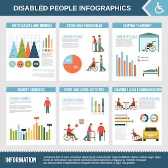 Gehandicapte infographics set