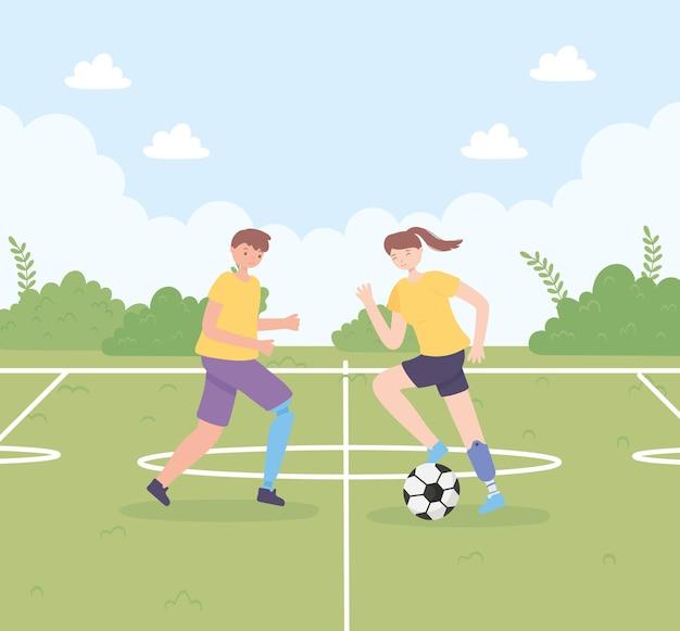 Gehandicapte kinderen voetballen