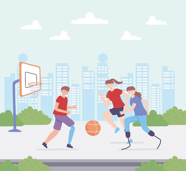 Gehandicapten die aan sport doen