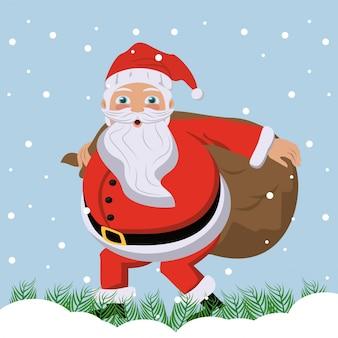 Geheime kerstman op de bureauachtergrond